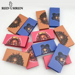 10 unids Diseñador Cajas de Pestañas de Embalaje Al Por Mayor Fahion Nueva Caja de Embalaje de Pestañas Vacías Rectángulo Pestañas Caso Paquete de Pestañas