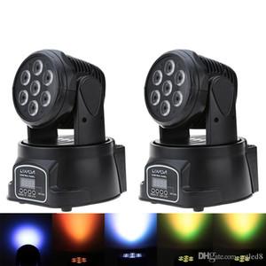 RGBW LED Stage Light 9/14 Party Canal Disco Voir 100W AC 100-240V son actif Décorations de Noël DMX-512 Mini Lyres