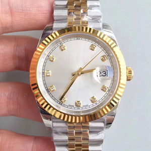 Top Mode classique Hommes Montre DATEJUST m126333 Argent diamant 41MM Saphir Cadran en acier inoxydable Jubilé Bracelet montres mécaniques automatiques
