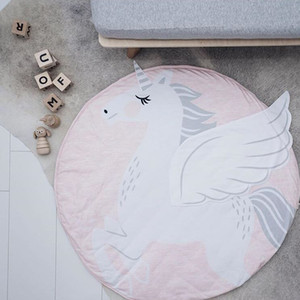 Baby Infant Play Mats Kids Crawling Carpet Floor Rug Baby Bedding Rabbit Blanket Cotton Game Pad Children Room Decor 90CM