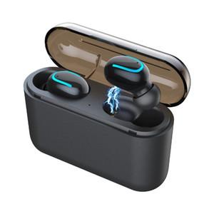 Bluetooth 5.0 Fones De Ouvido TWS Fones De Ouvido Sem Fio Blutooth Fone De Ouvido Handsfree Fone De Ouvido Esportes Fones De Ouvido Gaming Headset Telefone PK HBQ (Varejo)