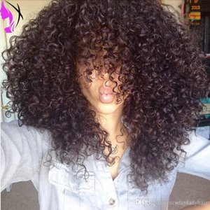 L 2020 New Style Kinky Curly Synthetic Hair Wig 12 -26inch Off Black Heat Resistant Hair Short Synthetic Lace Front Wig With Bangs