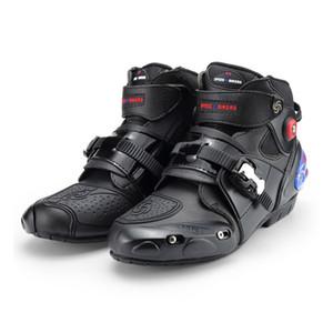 Motosiklet Botları Yüksek Ayak Bileği Yarış botları deri yarış Motocross Motosiklet Sürme çizmeler Ayakkabı