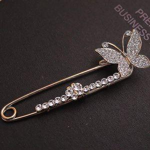 Moda Strass Butterfly Brooch Delicate Pin Brooch Banquet Gioielli Broches Moda gioielli