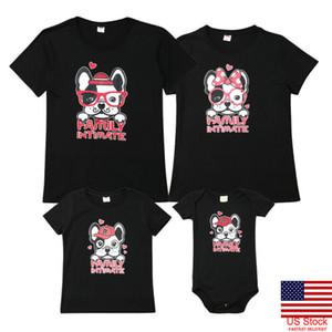 Summer Holiday Nuova Famiglia stile di corrispondenza Tema Shirt vacanze Carino Stampa T shirt cani mamma Mamma Papà Papà bambino del panno Beach Wear