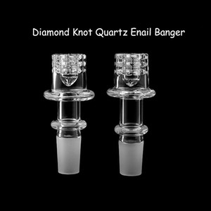 Diamond Knot Quartz Enail Banger Nails With Male Female 14mm 18mm Joints Suit For Glass Bongs Oil Rigs 20mm Coil Heater
