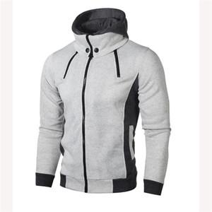 Мужская весна Дизайнер Новый Casual Coat Double Прицепного с капюшоном свитер Трендовых Homme спорта способ куртки кардиган