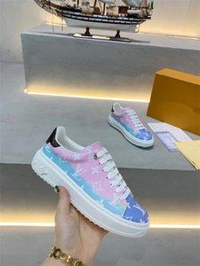 2020 Louis Vuitton LV shoes de la moda oblicua top zapatos con el logotipo Homme X kaws por Kim Jones mujeres de los hombres del diseñador de moda casual zapatos del patín Zapatos