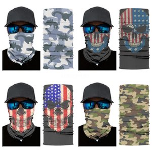 Too Many Styles Multi Function Skull Scarf Riding Variety Turban Hood Magic Headband Veil Head Scarves Mask Outdoors Fashion Accessories#367