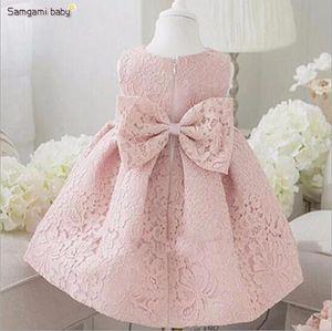 New best selling princess dress children's dress performance dress birthday flower children Pink Lace Wedding direct sale size 80-120cm