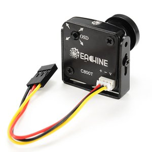 Eachine C800T 1 2.7 CCD 800TVL 2.5mm Camera with OSD Button DC5V-15V NTSC PAL Swtichable for RC Camera Drones Toys