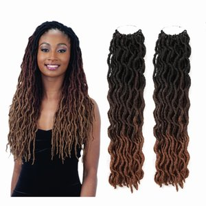 "FreeTress Synthetic Braids Wave Gypsy Goddess Loc 18"" Soft Natural DreadLocks Synthetic Crochet Braids Hair Extensions Pre Looped Locs Bulk"