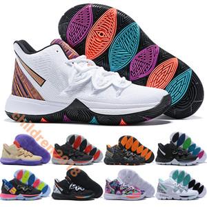Kyrie (5) 어린이 신발 어빙 농구 신발 디자이너 트레이너 BHM 2019 블랙 매직 타코 네온 블렌드 큰 소년 소녀 어린이 신발 크기 32-39