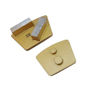 Two Pins Redi Lock Trapezoid Diamond Grinding Plate Quick Change Concrete Grinding Shoes Polishing Floor Pad 12PCS