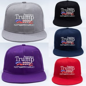 5 color trump baseball cap Keep America Great Letter Printed Embroidery Flat Hip Hop Hat Outdoor Sports Cap Party hat JJ463