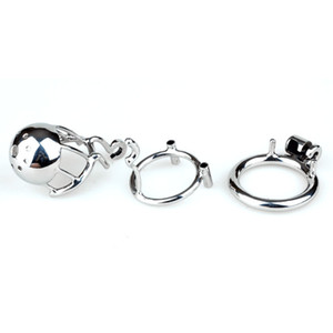 """Chaste Bird New Arrival 316 Stainless Steel Male PA Chastity Device Penis Ring Cock Cage Adult Sex Toys Kidding Zone """"Bridge""""-01 T200510"""