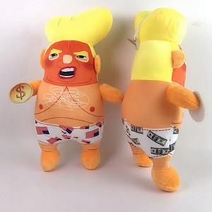 Comercio al por mayor de 27 CM Decoración Trump Muñeca de Felpa Con Sucker Trump Muñeca Divertida Modelo de Juguete de Felpa Adornos de Escritorio Divertido Precioso Juguete BH0541 TQQ