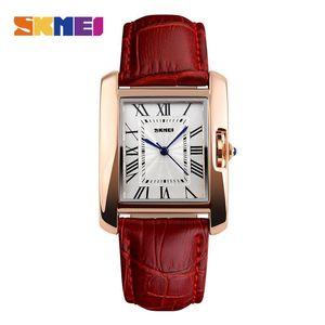 2020 Brand женщин вскользь кварцевые часы Элегантные ретро леди часы Женский кожаный ремешок Наручные часы 1085