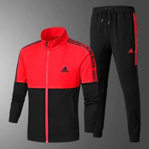 2020 Nueva Marca chándales Para chándal para hombre del deporte con letras otoño de manga larga casual del basculador del juego de pantalones de ropa 3 colores