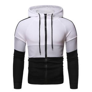 Contrasto Mens di colore Designer con cappuccio Moda Slim girocollo pullover Panelled Mens Hoodies abbigliamento casual Maschi
