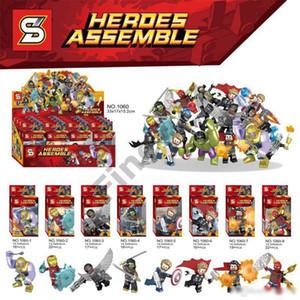 Blöcke Marvel Avengers Bausteine Color Box Thanos Kapitän Thor Hulk Iron Man Spider-Man-Figuren Spielzeug-Geschenk für Kinder