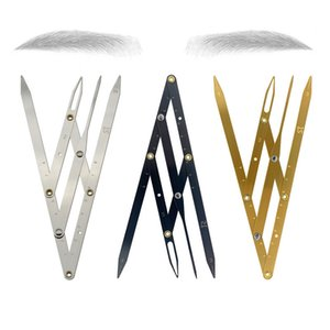 1pcs Stainless steel Golden Ratio Ruler CALIPERS Eyebrow Microblading Permanent Makeup Measure Tool Mean Golden Eyebrow DIVIDER