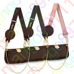 Borse della frizione della spalla del progettista di cuoio delle donne borse della borsa signore del fiore composito Tote femminile 3pcs borsa Designer Wallet / set