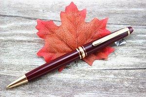 Luxo 163 caneta de resina vermelha Masterpiece Borgonha Rollerball e esferográfica com código MB esferográfica