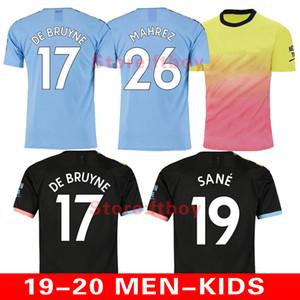 19 20 maillot de football de ville 2019 2020 MAHREZ G. maillot de football KUN AGUERO de JESUS DE BRUYNE uniformes homme maillot manchester maillot kit enfants