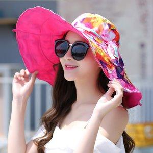 Stylish Summer Sea Border Grass Hat Foldable Hat Female Sunshade Beach Vacation Travel UV Sun Beach HatHat Women's Sun Shade Holiday Sun Hat