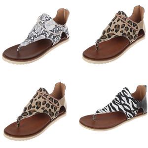 Mulheres designer de chinelos Sandal Sexy Girl Leopard Zebra Pele de serpente Slipper Sandália Luxury Beach Party Dress Shoes Big Size EU35-43