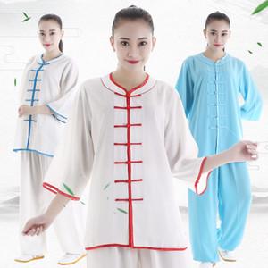 Abbigliamento popolare di arti marziali di estate Costume di Kungfu Unisex Tai Chi Abbigliamento Vestito di Kungfu Uniforme di esercizio di esercizio Abbigliamento Tops + Pants