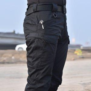 2019 Pantalon tactique Pantalon cargo militaire Hommes SWAT armée coussin pour les genoux airsoft couleur unie Vêtements Hunter terrain combat pantalons Woodland Y200114