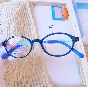 Children Glasses Frame boys and girls flat light glasses Flexible Optical Boys Girls Glass frame Cute Round Anti-blue Light Glasses