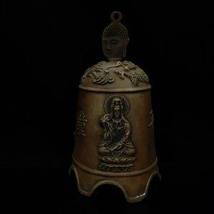 Китайский Antique Brass Bell Модель Статуя TH012