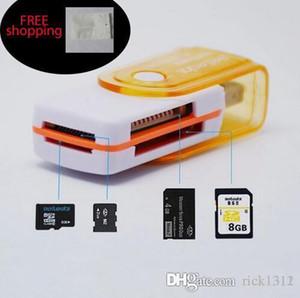 سعر المصنع بطاقة متعددة في 1 USB قارئ محول 2.0 موصل Micro SD TF M2 الذاكرة عصا MS ديو الذاكرة RS-MMC