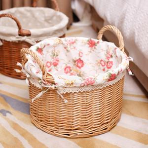 Home Furnishing Accetta carrello Willowerwork Accetta carrello rattan intrecciato articoli spuntini Magazine Sundries bagagli Accetta