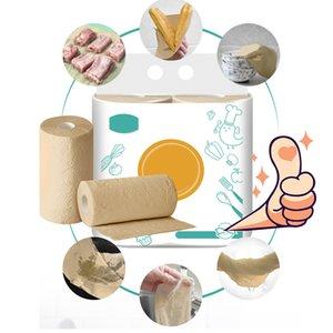 Tovagliolo riutilizzabile Bamboo Paper Ecologia amichevole Lavabile in lavatrice spessa carta assorbente asciugamano fogli riutilizzabili Accessori cucina