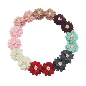 4-5 سم 12pcs / bag artific flower craft frick flower women headband DIY supplies bouquet orcent