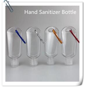 EPACK 50ML leere Alkohol nachfüllbare Flasche mit Schlüsselring Haken freier transparente Plastikhand Sanitizer Flasche für Reisen