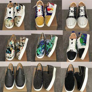 Yeni Tasarımcı Ayakkabı kırmızı Alt konumundadır Dikenler Orlato Erkekler Düz Loafers Sneakers parti ayakkabı üzerinde Pik Tekne Merdane Tekne Slip, eğitici