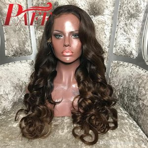 Glueless Ombre Silk Base Lace Front Human Hair Wigs 1b 4# Pre Plucked 4*4 Body Wave Silk Top Remy Hair Wigs