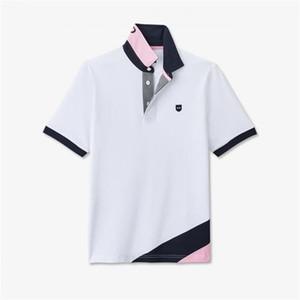 Bordados Pescoço Eden Park 2020 Nova Strech de algodão homens do polo de manga curta camisas Homme alta qualidade camisa Tendência Estilo Polos M-3XL T200519