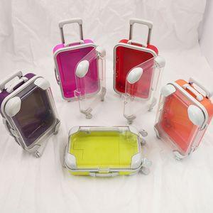 Wholesale false ресницы упаковки упаковки розовые багажные ресницы чемодан норки ресницы пустые упаковки пушистый и курчавый корпус