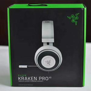 Razer Kraken Pro V2 Headphones Analog Gaming Headset totalmente retrátil com microfone Oval almofadas de ouvido para PC Xbox One e Playstation 4