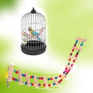 4 estilos Aves Brinquedos Grande Parrot Brinquedos Drawbridge ponte do canto de madeira Cockatiels Standing Rope Pet Toy produtos Acessórios