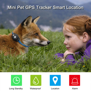 Freeshipping Mini Pet GPS Tracker Waterproof Smart GPS Tracker With Collar For Pets Cat Dog GPS+LBS Location Free APP LED Indicator
