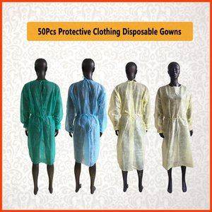 Waterproof Isolation Clothes Knits Frenulum Protective Clothing Disposable Gowns One Time Non Fabric Breathable PP rotection Unisex