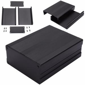 Caixa eletrônica expulsa preta 100x76x35mm da caixa do projeto do instrumento do PWB dos cercos de alumínio