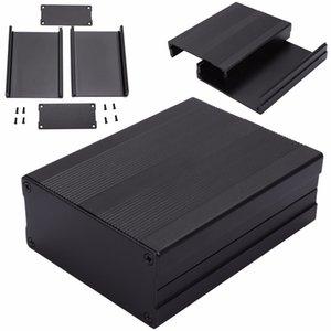 Caja de instrumentos de proyecto de aluminio electrónico 100x76x35mm Caja de caja de PCB negra Caja de caja extruida LPexs